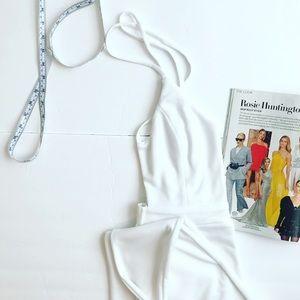 White halter style jumpsuit, white size M